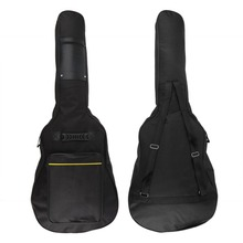 2017 New Classic Soft Acoustic Guitar Bass Case Bag Holder With Double Padded Straps 40 41 Inch Convenient Music Free Shipping(China)