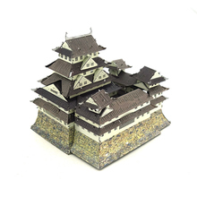 Colorful Japan Himeji Castle Fun 3d Metal Diy Miniature Model Kits Puzzle Toys Children Educational Boy Science Hobby Building