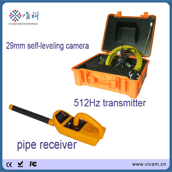 40M Pipe Inspection Camera System, Sewer Inspection Camera Kit With 8inch Monitor,Meter Counter, 512 hz Sonde&Locator(China)