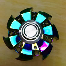 Newest Colorful whirlwind colorful Tri-Spinner Fidget Hand Spinner Toy For Autism and ADHD KidsAdult Funny Anti Stress