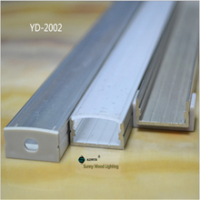 10pcs/lot 80 inch 2m/pc led aluminium profile with milky/transparent cover for 20mm strip ,led   bar light AP-2410