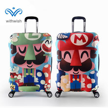 "Fashion Pattern Travel Trolley Cover S/M/L/XL Elastic Thickened Waterproof Luggages Dustproof Cover Apply to 18""~32"" Suitcases"