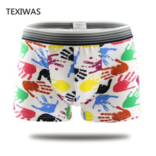 Sexy summer ice men boxer shorts men's cartoon underwear Comfortable breathable shorts print men underpants(China)