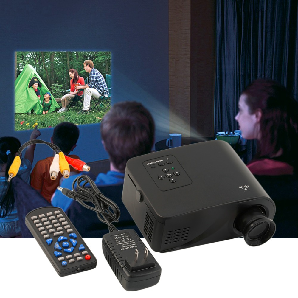 New Mini 1080P HD Multimedia Home LED Projector Cinema Theater AV TV VGA HDMI US Plug In stock!<br><br>Aliexpress