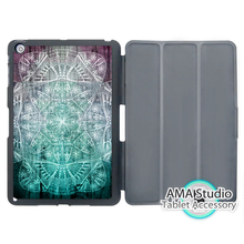 Purple Green Nebula Mandala Stand Folio Smart Cover Case For Apple iPad Mini 1 2 3 4 Air Pro 9.7