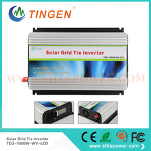 1000w grid tie inverter for solar panel system,DC 22v-60v to ac 90-130v 190-260v ac pv power inverter