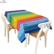 Tablecloth Home Decor Rectangular Stripe Polyester Table Cover Cloth 140*180cm