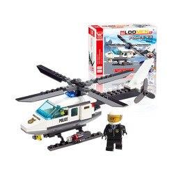 Конструктор, полицейский вертолёт, 102 детали