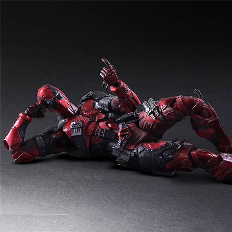 26cm Deadpool Figure Wolverine X-MEN Play Arts Dead Pool PVC Action Figures Resin Collection Model Doll Toy Gifts (3)