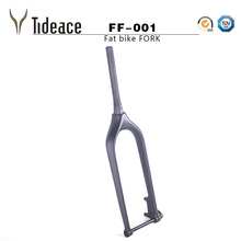 Free Shipping Fat bike Carbon Fork 15mm Thru Axle carbon fat fork beach bike Fork Snow Bike Carbon Fork 150mm with Axle shafter(China)