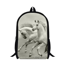 Dispalang White Horse Backpack for Girls Animal Print School bookags Stylish School bag for boys Fashion Shoulder Book Bag Child