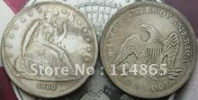 1860 Seated Liberty Silver Dollar Coin COPY FREE SHIPPING