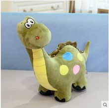 big lovely plush dinosaur toy cartoon spots green dinosaurs doll gift about 70cm