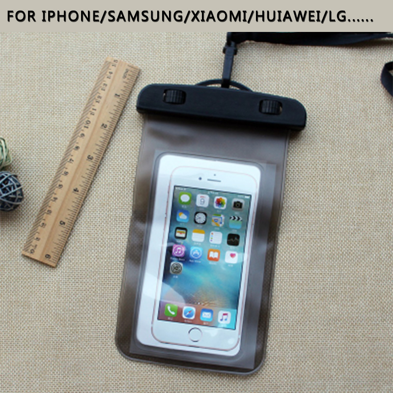 New Clear Waterproof Pouch Dry Case Cover For 5.5 inch Phone Camera Mobile phone Waterproof Bags for IPHONE 4 4S 5 5S 6 6S PLUS