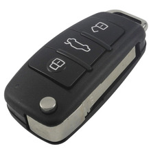 New 3 Buttons Folding Flip Key Remote Case Shell For Audi A2 A3 A4 A6 A6L A8 TT Car Cover Free Shipping