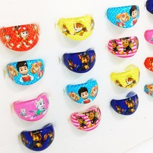 2016 Fashion Jewelry 50Pcs Cute Ryder Cartoon Kids Paw Ring Girls Patrol Marshall Rings event Birthday Party Gift(China)