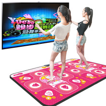 PC English menu 11 mm thickness double dance pad Non-Slip Dancing Step Motion Sensing Dance Game Mat Pad for PC & TV