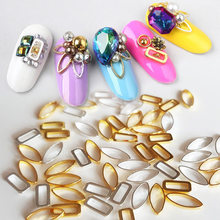 New Japanese nail products 100pcs Nail art alloy loop rivet decoration nail art stud charm DIY nail metal glitter parts