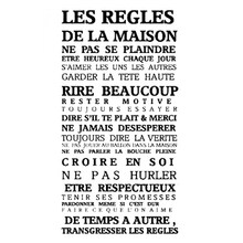 House rules of French version waterproof wall stickers-60*92cm,Black(China)