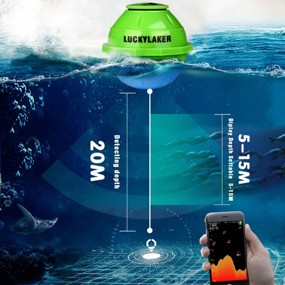 Wifi Fishfinder echo sonar sounders locating fish sound underwater camera for fishing findfish deeper wireless echo sounder (14)