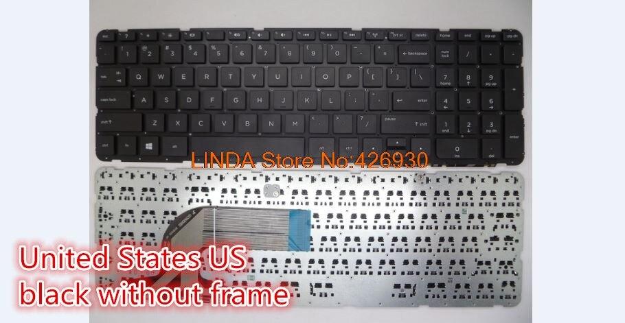 Laptop Keyboard for HP 350 G1 350 G2 355 G2 SN6126 UK 758027-071 with Black Frame Black Spanish SP