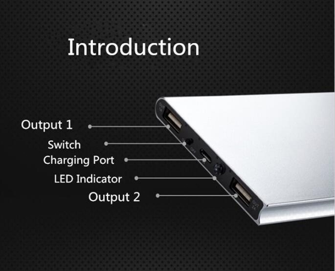 50000mAh Powerbank Dual USB Ports 2A Fast Charger 18650 Power Bank for iPhone Xiaomi Huawei Tablet Portable Charger