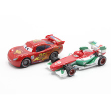 Disney Pixar Cars No.95 McQueen And Francesco Bernoulli 1:55 Scale Diecast Metal Alloy Modle Cute Toys Car For Children Gifts(China)