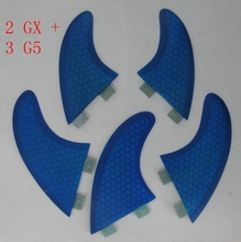 2017 new Surf Fin FCS G5 GX set for surfboard, 1Tri G5 set+ 2pcs GX (left ,right ) surfboard fins 5 piece/set