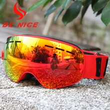 Benice New Design 4-15 years old Children skiing goggle Detachable Dual Layer Anti-Fog Double Lens Ski Glasses Snow-4300(China)