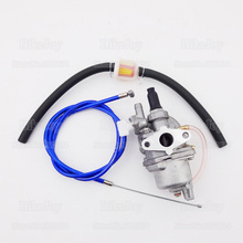 Blue Gas Throttle Cable Carb Carburetor Fuel Filter Hose Line for 47cc 49cc Super Pocket Mini Moto Dirt Bike ATV Quad Minimoto