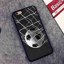 Soccer Ball in Net Football Futbol Goal Soft TPU Skin Phone Case For iPhone 6 6S Plus 7 7 Plus 5 5S 5C SE 4 4S Cases Back Cover