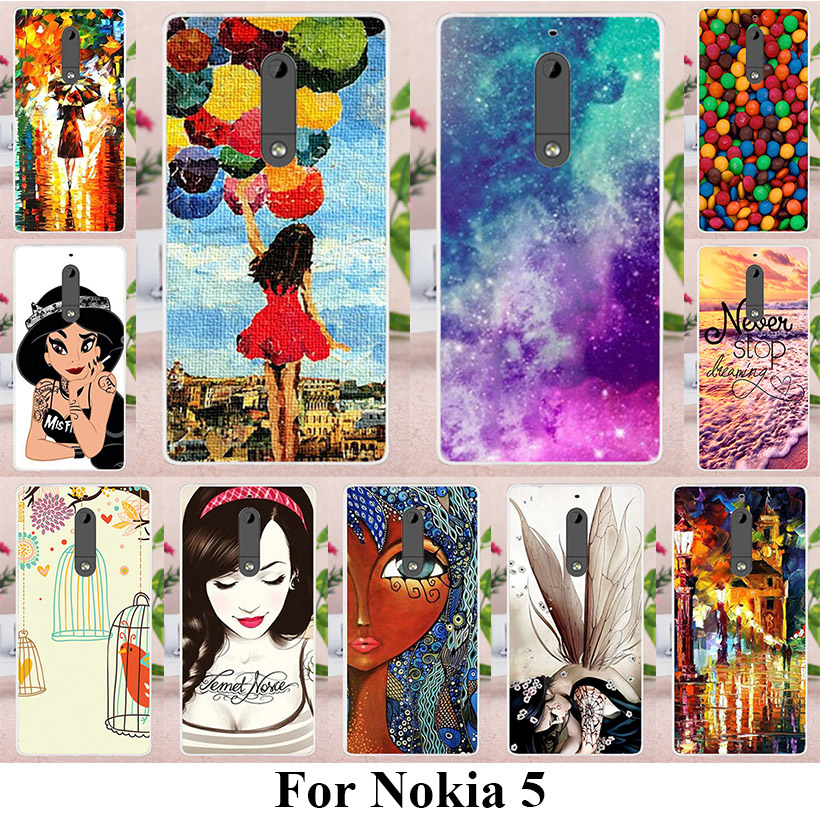 TAOYUNXI Soft TPU Phone Cases For NOKIA 5 Nokia heart 5.2 inch Covers Umbrella Girls Ballon Bags Candies Shell Phone Back(China)
