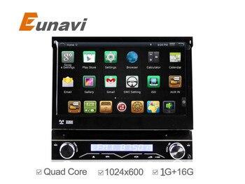 """Универсальный 7 """"один 1 Дин Android 4.4 Quad Core Автомобиля DVD GPS Навигация С Авторадио WIFI 3 Г Аудио Стерео Емкостный Сенсорный Экран"""