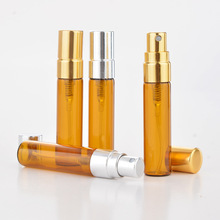 150 x 5ML Gold & Silver Sprayer Amber Glass Perfume Bottles Wholesale