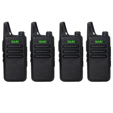 4PCS WLN KD-C1 Walkie Talkie UHF 400-470MHz Mini Radio Portable Two Way Radio CB Ham Transceiver Handheld Communicator Equipment