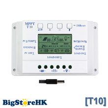 10A Solar Charge Controller 12V 24V Auto LCD Dispaly Solar Panel Battery Charge Controller Dual Timer for Solar Lighting System