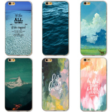 Spontaneous Burning Scenery Blue Sky White Clouds Sea Case For iphone 5 Xiaomi Redmi 4 Pro 3S Huawei P8 P9 Lite Meizu U10 U20