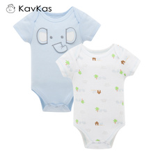 Kavkas Baby Boy Rompers Summer Cotton Baby Boy Jumpsuits Short Sleeve Breathable Newborn Baby Clothes