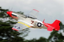 FMS RC Airplane 1700MM / 1.7M P51 / P-51 D Mustang Red Tail PNP Version Big Scale Gaint Warbird Remote Control Model Plane