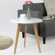 LANSKAYA Nordic Modern Fashion Living Room Coffeehome Wood Bar Table Caffe Sofa Side Mdf Furniture Loft Style Laptop