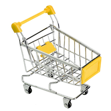 Mini Shopping Cart Basket Storage Toys Handcart Phone Holder Shopping Cart Children Toy Cute Home Organizer(China)