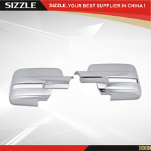 2009 2010 2011 2012 2013 2014 F150 Chrome Towing Mirrors Cover Full With Turn Signal Light Cutout