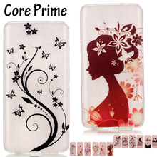 Lovely Flower Lady Soft TPU Case Cover for Samsung Galaxy Core Prime Cases SM-G360H SM-G360F / SM-G361F SM-G361H Coque Funda
