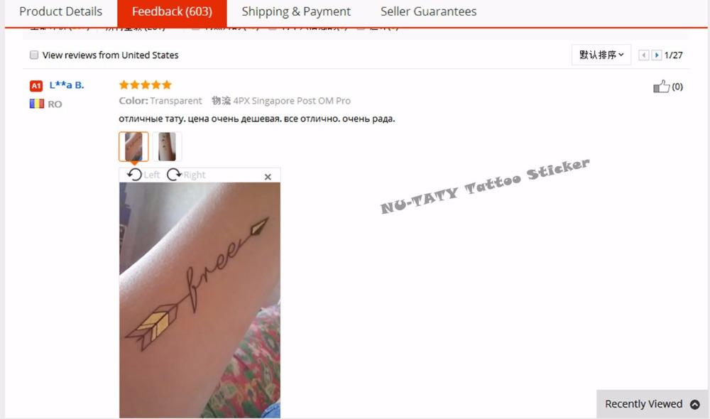 Nu-TATY 24 style Temporary Tattoo Body Art, Lace Desgin Gold Designs, Flash Tattoo Sticker Keep 3-5 days Waterproof 21*15cm 17