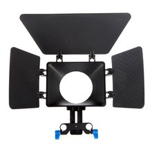 Top Deals Matte Box Sunshade for 15mm Rail Rod Support DSLR 5DII 60D D90 550D 600D black