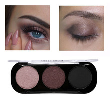 New Cosmetic 3 Color Artist Trio Eyeshadow Palette Shimmer Matte Bronze Eyeshadow Makeup Natural Naked Smokey Glamour Eye Shadow