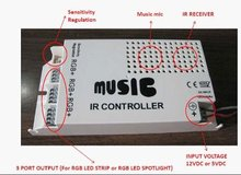9 channel LED audio RF controller,DC12V/5V input