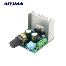 Aiyima AC DC 12V TDA7297 Dual channels finished amplifier board 15W*2 Stereo Analog power Amp DIY(China)