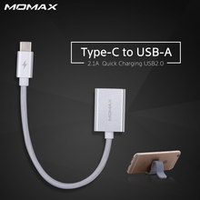 Momax Original USB C to USB A Adapter Type C to USB A 18cm Data Transfer Cable for Mackbook OTG Converter Type-C Free Magic Band(China)