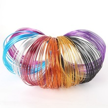 1/1.5/2mm multi colors anadized soft aluminum metal beading wire coil 10m 5m 3m/roll DIY jewelry craft versatile painted making(China)